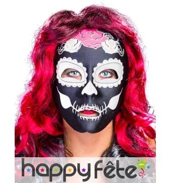 Masque Dia de los muertos noir pour femme