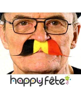 Moustache drapeau de belgique