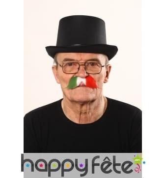 Moustaches drapeau d'italie