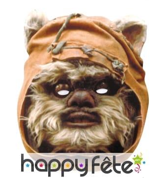 Masque d'Ewok en carton plat