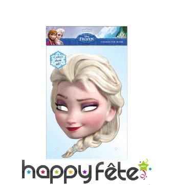 Masque de Elsa reine des neiges, en carton