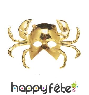 Masque doré en forme de crabe, pour adulte