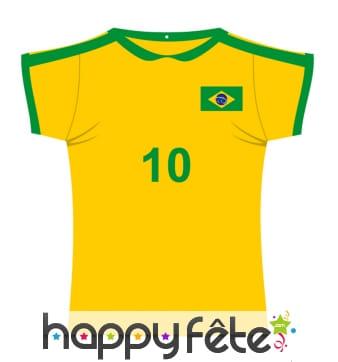 Maillot de foot Brésil en carton