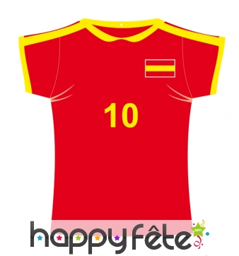 Maillot de foot Espagne en carton