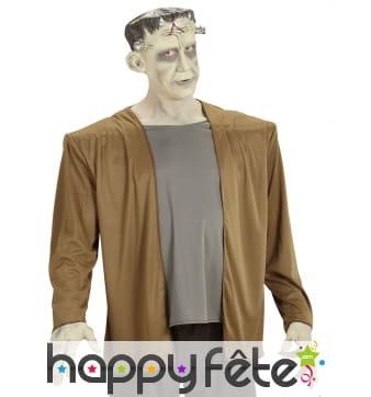 Manteau de Frankenstein avec chemise et coiffe
