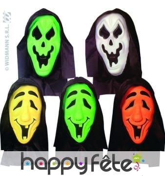 Masque de fantôme coloré avec capuche