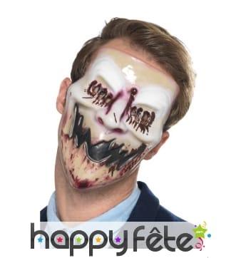 Masque de fantôme ensanglanté souriant
