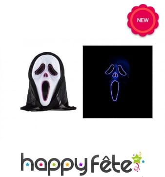 Masque de fantôme lumineux pour adulte