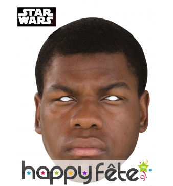 Masque de Finn en carton, Star Wars 7
