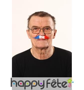 Moustache drapeau Francais