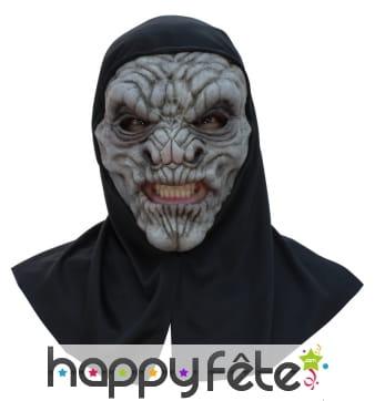 Masque de gargouille avec capuche noire