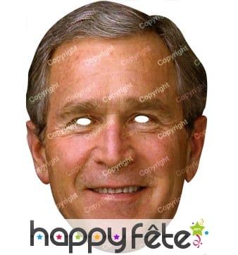 Masque de George Bush en carton