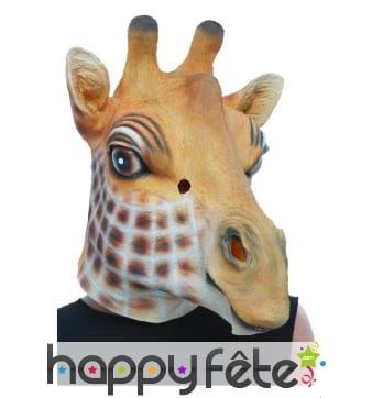 Masque de girafe intégral pour adulte