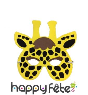 Masque de girafe pour enfant, en mousse