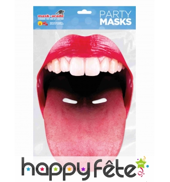Masque de grande bouche qui tire la langue, adulte
