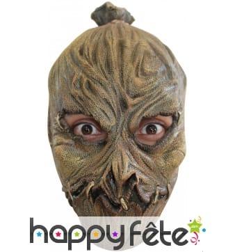 Masque d'horrible épouvantail en latex souple
