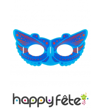 Masque de héro bleu phosphorescent