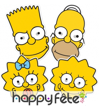 Masques de Homer, Lisa, Maggie et Bart Simpson