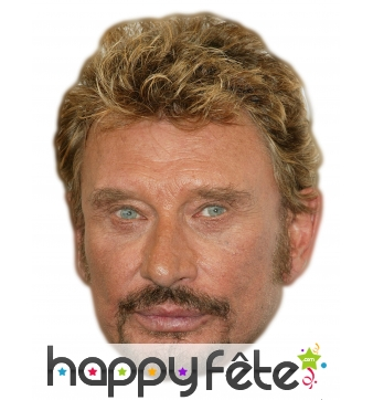 Masque de johnny Halliday en carton plat