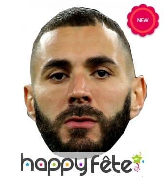 Masque de Karim Benzema en carton plat