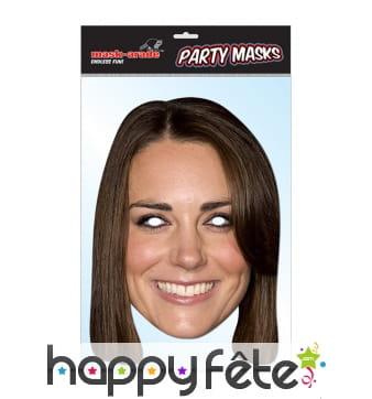 Masque de Kate Middleton, en carton