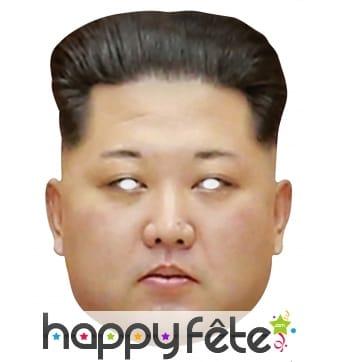 Masque de Kim Jong Un en carton plat
