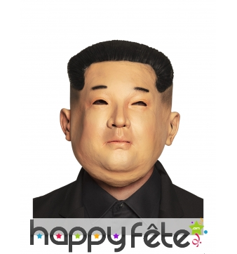 Masque de Kim Jong Un en latex pour adulte