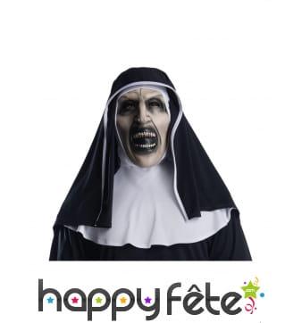 Masque de la Nonne avec coiffe pour adulte