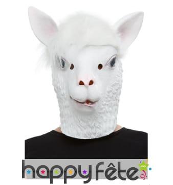 Masque de lama blanc intégral pour adulte