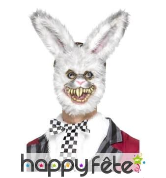 Masque de lapin blanc monstre