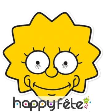 Masque de Lisa Simpson en carton
