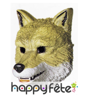 Masque de loup facial en plastique