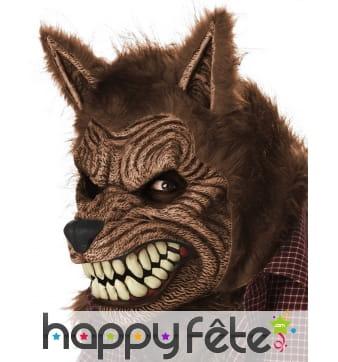 Masque de loup garou avec mâchoire mobile