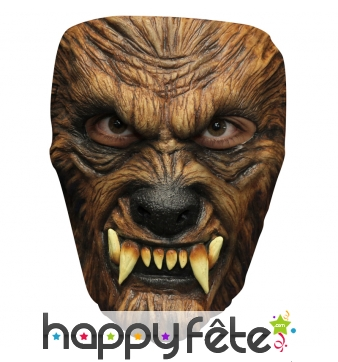 Masque de loup garou facial en latex