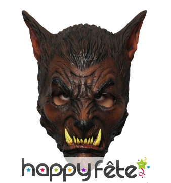 Masque de loup garou marron