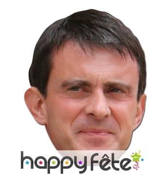 Masque de Manuel Valls en carton plat