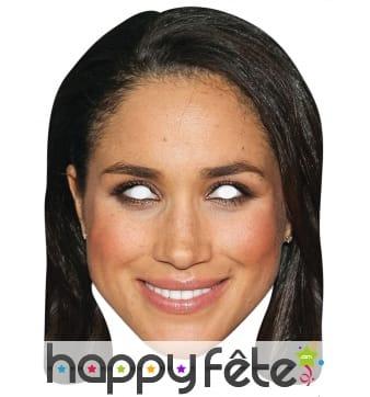 Masque de Meghan Markle en carton plat