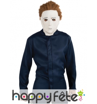 Masque de Michael Myers en latex souple blanc