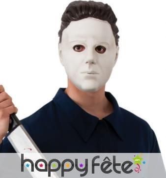 Masque de Michael Myers en vinyl blanc