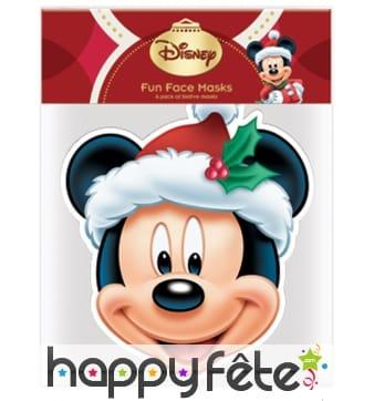 Masque de Mickey papa Noël