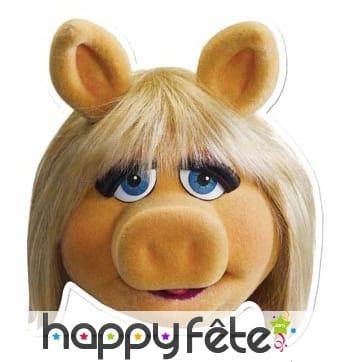 Masque de miss Piggy en carton