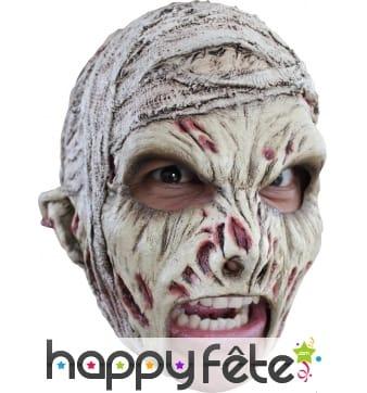 Masque de momie effrayante, ouverture de bouche