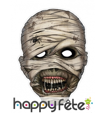 Masque de momie en papier