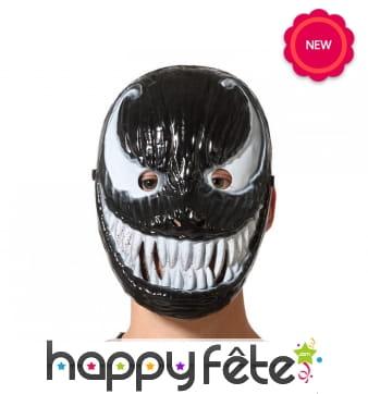 Masque de monstre noir au sourir et yeux blancs