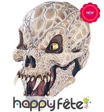 Masque de monstre squelette cobra en latex, Luxe