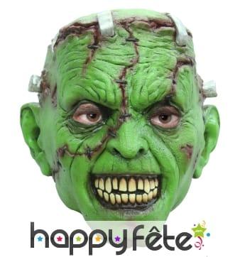 Masque de monstre vert génétique