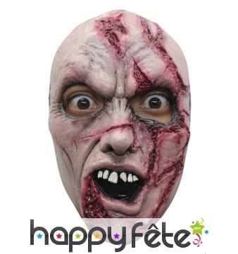 Masque de monstre zombie balafré