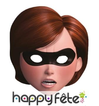 Masque de Mrs Indestructibles en carton, adulte