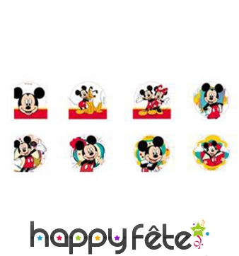 Minis disques Mickey mouse en sucre 34mm
