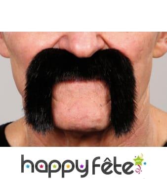 Moustaches de motard noires